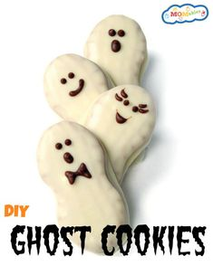 Easy Halloween Ghost Cookies Recipe #Halloween #recipe