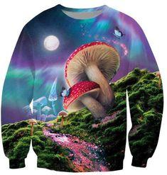 Bad Trip Sweatshirt Melting Mushroom Beautiful Crewneck Jumper Psychedelic Vision Jersey Sweats Hoodies Tops Men Outfits 5XL