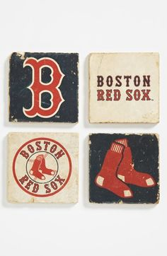 'Boston Red Sox' Marble Coasters (Set of 4) | Nordstrom