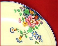 "VERY PRETTY VINTAGE SHABBY CHIC ART DECO ALFRED MEAKIN BELAIR 7"" PLATE GORGEOUS! 