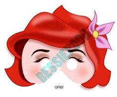 Ariel (Masks by BessiePooh @Etsy) #TheLittleMermaid