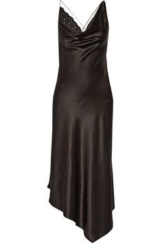 Altuzarra - Moonshine Embellished Tulle-trimmed Asymmetric Stretch-silk Dress - Black - FR40