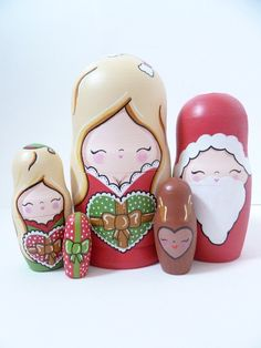 Christmas Themed Russian Dolls