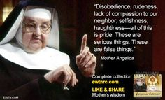 After founding EWTN in 1981 and serving as an on-air host for two decades of live programs, Mother Angelica left behiind a treasury of wit and wisdom. Mother Angelica, Mother Mary, Mother Teresa, Great Quotes, Inspirational Quotes, Pray Continually, Catholic Prayers, Catholic Marriage, Catholic Memes
