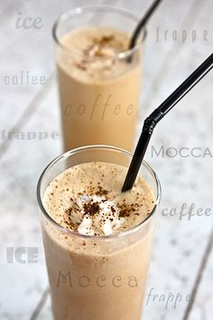 MOCCA FRAPPE - Edith's Kitchen Moca, Sweet Desserts, Dessert Recipes, Edith's Kitchen, Detox Shakes, Blood Type Diet, Dukan Diet, Smoothie Drinks, Sweet Cakes