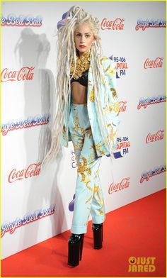 Lady Gaga: Bleached Dreadlocks for Capital FM Jingle Ball 2013 | lady gaga bleached dreadlocks for capital fm jingle bell ball 2013 01 - Pho...