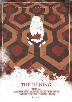 The Shining - Stanley Kubrick Horror Movie Posters, Minimal Movie Posters, Horror Movies, Cinema Posters, Jack Nicholson, The Shining Poster, Stanley Kubrick The Shining, Stephen King, Kunst Poster