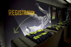 The event had a sports theme, with images of athletes in motion used in the signage.  Photo: Rob Bennett Photography