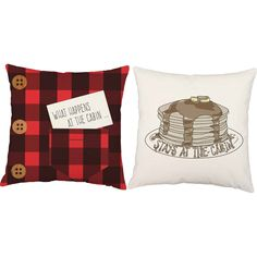 The golden rule of vacations is spelled out on these cozy-fun pillows! What happens at the cabin stays at the cabin and our awesome lumberjack inspired print makes this pillow pair the perfect additio Outdoor Pillow Covers, Outdoor Cushions, Throw Pillow Sets, Throw Pillows, Pillow Talk, Cabin In The Woods, Best Pillow, Cozy Cabin, Cabin Homes