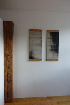 Beton-Bild mit Holz-Rahmen