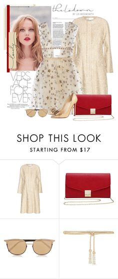 """Sem título #2335"" by bellerodrigues ❤ liked on Polyvore featuring Nina Ricci, Oscar de la Renta, M&Co, Christian Louboutin, Linda Farrow and Valentino"