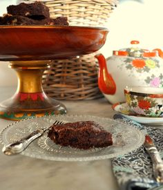 Traditional brownies with walnuts
