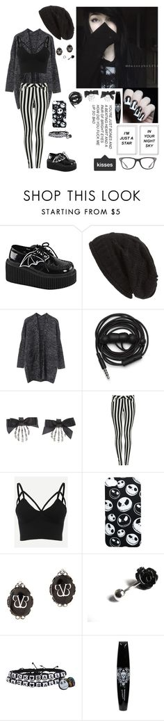 """""""jack and sally"""" by emokittyyy ❤ liked on Polyvore featuring Demonia, David & Young, Urbanears, Bellybutton and Ray-Ban"""