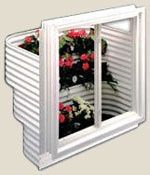 Redi-Exit economy garden step egress window wells are available in 49? and 55? widths and have 3 or 4 tier steps, can be planted on each step.