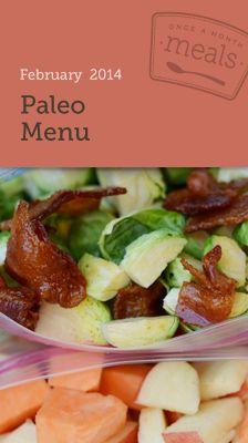 Paleo February 2014 Freezer Menu - Once A Month Meals - Freezer Cooking - Freezer Friendly Paleo Meals