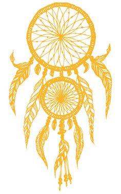 Receveur de Rêve Doré Grand Tattoo | TattooForAWeek.com - Tatouages Temporaire . - tatouage temporaire - Or & Argent - YA/F27-30