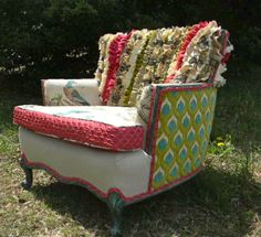 zamyzames:  Another amazing piece of furniture. From happychair's Etsy shop $1699.
