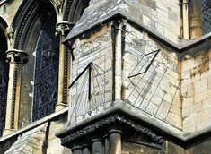 Lincoln Cathedral sundial. Lincolnshire, England.