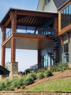 Stairs, Iron, Exterior, Cabin, House Styles, Glass, Home Decor, Drinkware, Stairway