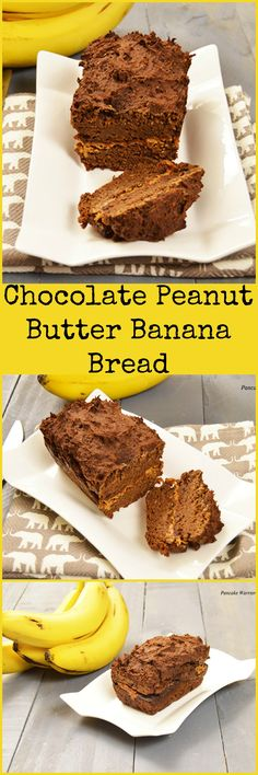 Healthy Peanut Butter Banana Bread - this easy recipe is low fat, gluten free and vegan! Perfect afternoon snack or dessert, only 130 calories per slice!