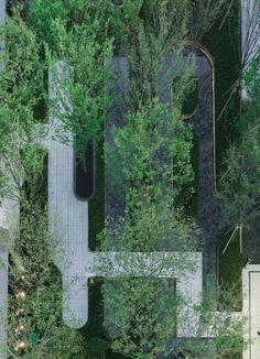 Landscape Diagram, Urban Landscape, Pocket Garden, Landscape Architecture Design, Garden Park, Plant Design, Pavement, Backyard, Outdoor Structures