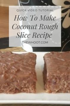 Coconut Rough Slice Recipe Easy Video Instructions is part of Slices recipes You will love this delicious Coconut Rough Slice Recipe and it is a real family favorite that is legendary Watch the vid - Coconut Rough Recipe, Coconut Recipes, Lemon Recipes, Coconut Bars, Scottish Recipes, Turkish Recipes, Romanian Recipes, Jamaican Recipes, Cupcake Recipes
