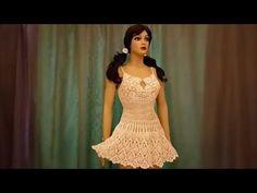 How to crochet a lace summer dress Crochet Beach Dress, Crochet Skirts, Crochet Clothes, Crochet Lace, Blouse Dress, Knit Dress, Dress Skirt, Lace Dress, Lace Summer Dresses