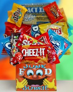 Junk Food Candy and Snack Bouquet from All About Gifts and Baskets