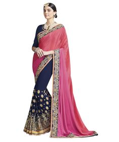 Buy Now Black-Cream Embroidery Work Georgette-Net Half Half Fancy Saree only at Lalgulal.com. Price :- 2,552/- inr. To ‪#‎Order‬ :- http://goo.gl/3FJmnW To Order you Call or ‪#‎Whatsapp‬ us on +91-95121-50402 COD & Free Shipping Available only in India.