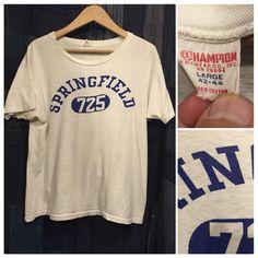 〜1960's champion tee (water print)  size LARGE  コンディションもぼちぼち◎  今週もよろしくお願いします☺︎ #forsale  #champion  #vintageclothing  #SNUG