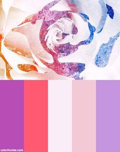 Acrylic Rose Macro - Vibrant Splashes & Splatters Color Scheme