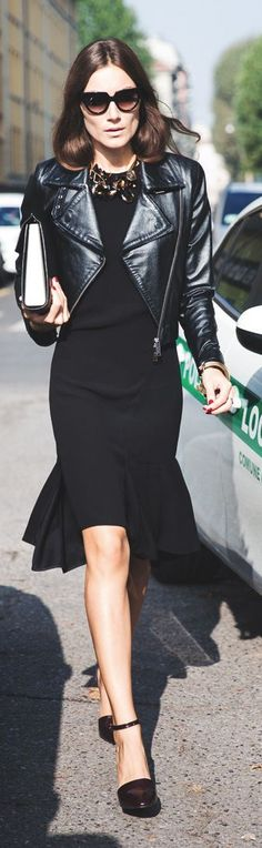 Black Ruffle Hem Mini Dress by Collage Vintage
