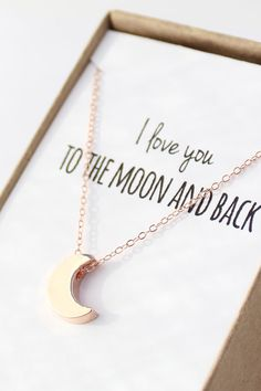 Rose+Gold+Moon+Necklace++Tiny+Moon+Necklace++by+powderandjade,+$30.00