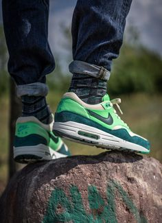 """Nike Air Max 1 Essential """"Poison Green"""" (St. Patrick's Day 2013)"""