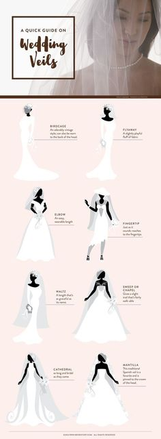 Ideas for wedding veil styles | How to Choose the Right Bridal Accessories | http://www.bridestory.com/blog/how-to-choose-the-right-bridal-accessories