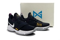 Free Shipping Only 69$ Young Big Boys Nike PG 1 Ferocity Obsidian University Gold Hyper Violet Indiana Pacers 878627-417