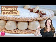La recette du succès praliné traditionnel : un gâteau composé de dacquoises aux noisettes et de crème mousseline au praliné... Le summum de la gourmandise ! Praline Cake, Hazelnut Praline, Dacquoise, Number Cakes, Cooking Chef, Food Cakes, Nutella, Cake Recipes, Biscuits