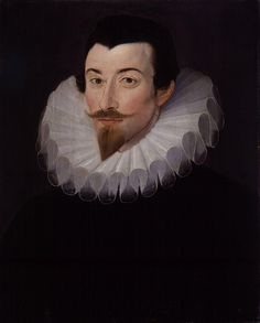 A portrait of one of Queen Elizabeth I's godsons, Sir John Harington- (August 4, 1561 – November 20, 1612). John was a courtier, and an author. Elizabeth's referred to him as her 'saucy Godson'. The work for which he is best known today is, 'A New Discourse of a Stale Subject, called the Metamorphosis of Ajax' (1596). He is also known as the inventor of the flush toilet.