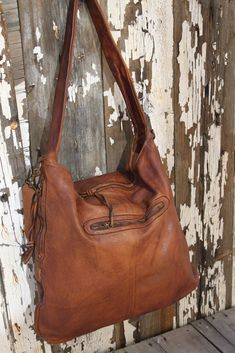 019955769058 Huge Soft Cognac Vintage Inspired Hobo Bag