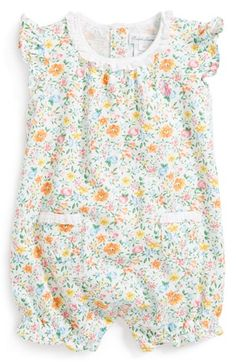 Ralph Lauren Floral Print Bubble Romper (Baby Girls) available at #Nordstrom