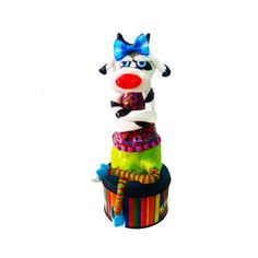 Modern Cow sculpture , cow shelf sitter , cow decor , cow decoration , whimsical cow , collectible cow , cow design , happy cow