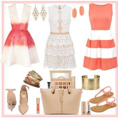 A fashion look from May 2015 featuring short white dresses, red cocktail dress and skater dresses. Browse and shop related looks. Roberto Coin, Wallis, Blue Nile, Kendra Scott, Rose, Polyvore, Image, Fashion, Moda