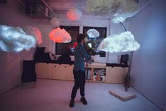 Interactive cloud lamps!!!!!.streams music as well as simulates on demand thunder storms!