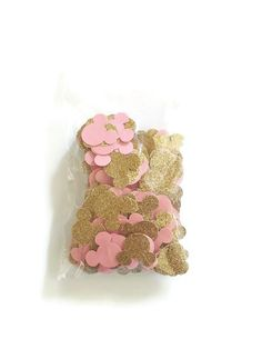 Minnie Mouse Birthday Gold And Pink Confetti by LittleLunaStation