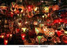 Turkish lanterns on the Grand Bazaar in Istanbul, Turkey @Lori Sandoval