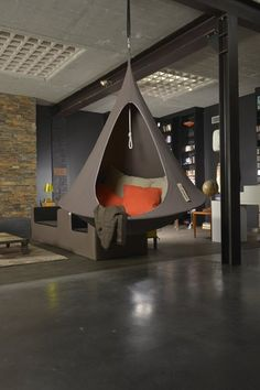 Cacoon Single Hanging Tent - All Therapeutic Living Room Designs, Living Room Decor, Bedroom Decor, Garden Bedroom, Master Bedroom, Hanging Tent, Balkon Design, Diy Apartment Decor, Dream Rooms