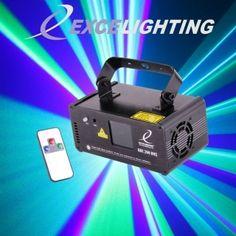 Laser GBC 200-DMX   Un laser accrocheur Tricolore GBC utilisant des balayeurs de haute qualité.  Mouvements sans à coups et continus, plus de 100 effets volumétriques, formes géométriques, tunnels, plafonds … Shows laser préprogrammés merveilleux adaptés à toute utilisation : Salles d'attente bar, discothèques, DJ mobiles etc.  Laser de classe 3B basé sur un laser Vert 532nm 50mW et Bleu 445nm 150mW.