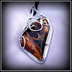Wood opal pendant / SOLD /
