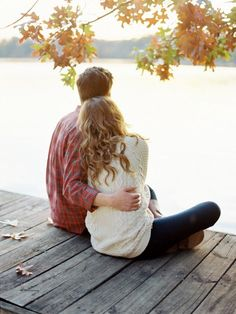 Fall dockside engagement shoot. Austin Gros.