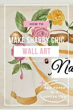 Do you love shabby chic or rustic home decor? Learn how to achieve that antique look to make it look shabby chic or vintage with this one simple technique! #shabbychic #shabbychicdecor #vintagedecor #homedecor Shabby Chic Canvases, Shabby Chic Wall Art, Shabby Chic Decor, Hanging Artwork, Diy Artwork, Artwork Ideas, Shabby Chic Farmhouse, Shabby Chic Homes, Diy On A Budget